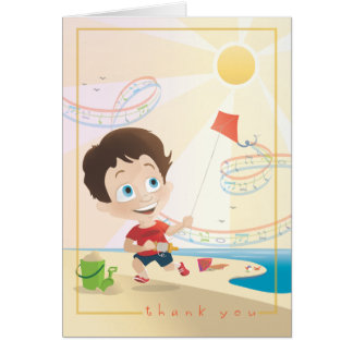 SUMMER Thank You Greeting Note Card