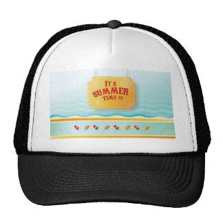 Summer theme design mesh hat