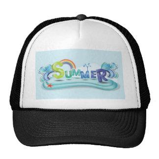 Summer theme trucker hat