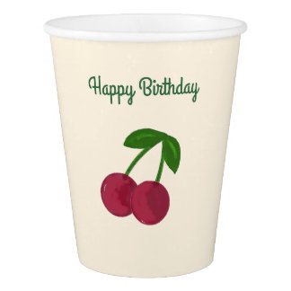 Summer Time Cherries Paper Cup