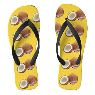 Summer time- coconut flip flops