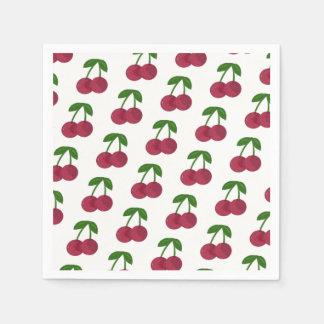Summer Time Dark Cherries Disposable Serviette