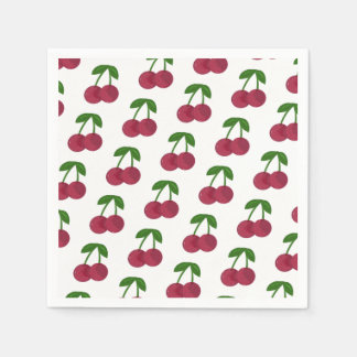 Summer Time Dark Cherries Paper Napkin