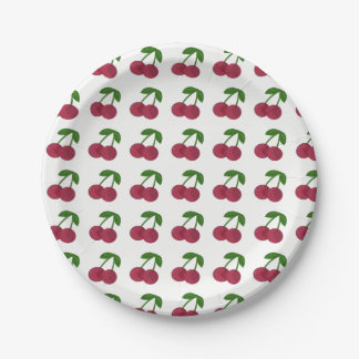 Summer Time Dark Cherries Paper Plate