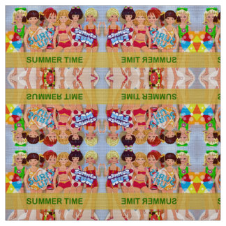 Summer Time Paper Dolls Fabric