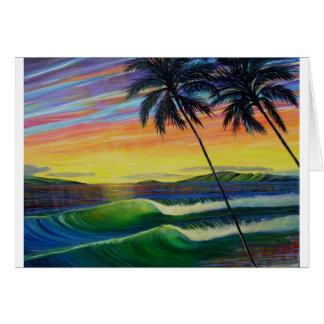summer-time-sunset-west-mau greeting card