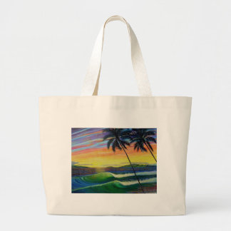 summer-time-sunset-west-mau large tote bag