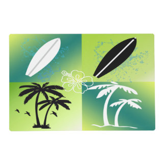 Summer Time Theme Laminated Placemat
