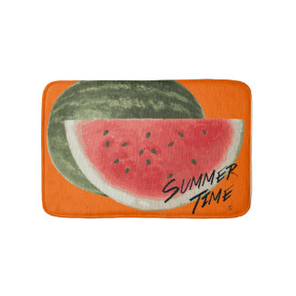 Summer time- watermelon bath mats