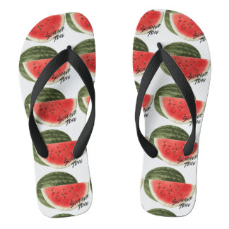 Summer time- watermelon flip flops