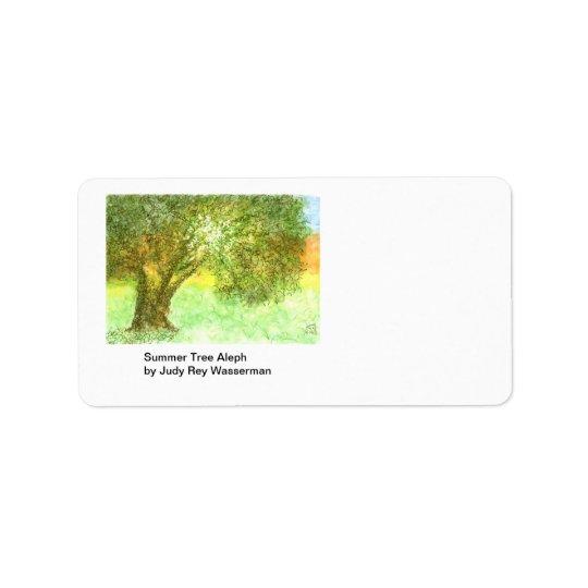 Summer Tree Aleph Label