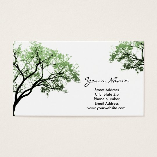 Summer Trees Business Cards