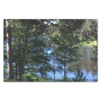 Summer Trees Lake Tissue Paper