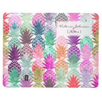 Summer tropical pineapples pastel watercolor journals