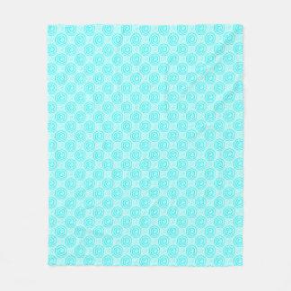 Summer Turquoise Swirls Pattern Fleece Blanket