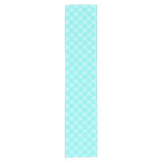 Summer Turquoise Swirls Pattern Short Table Runner