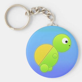 Summer Turtle Key Ring