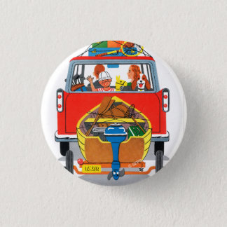 Summer Vacation 3 Cm Round Badge