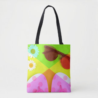 Summer vacation accessories tote bag