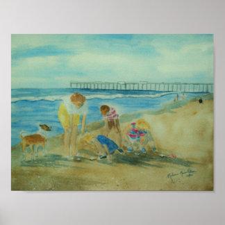 Summer Vacation at Indian Rocks Beach circa 1965 Poster