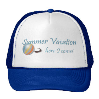 Summer Vacation Here I Come Beach Cap