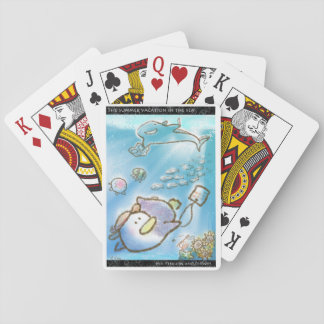 Summer vacation in the sea playing cards