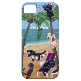 Summer Vacation Labradors Painting iPhone 5 Cover