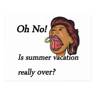 summer vacation over postcard