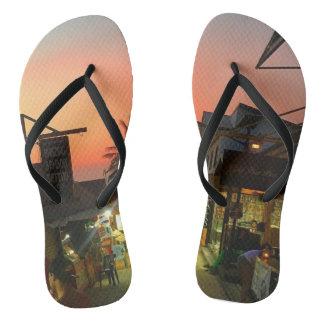 Summer Vibes Adult, black strap, Flip Flops