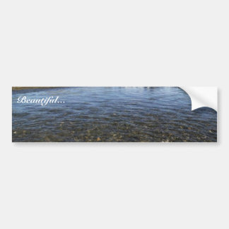 Summer View of a River and Mountains in the Togiak Car Bumper Sticker