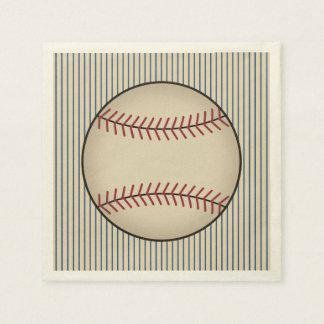Summer Vintage Baseball Party Napkins Disposable Serviettes
