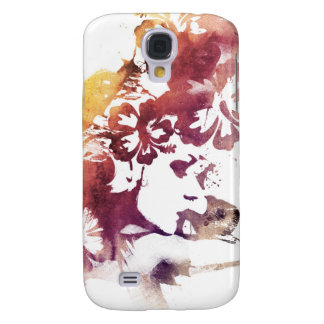 Summer vintage Girl and Flowers Galaxy S4 Case