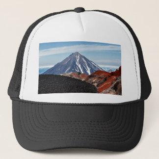 Summer volcanic landscape - crater active volcano trucker hat