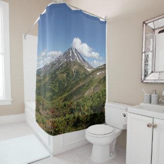 Summer volcanic landscape in Kamchatka Shower Curtain