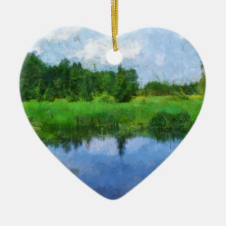 summer water ceramic heart decoration