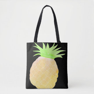 Summer Watercolor Pineapple Tote Beach Watercolour