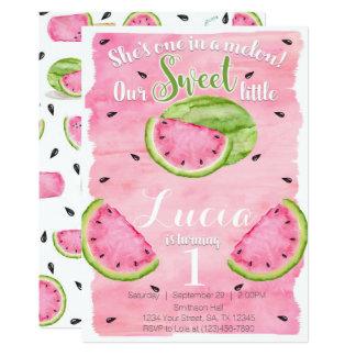 Summer Watermelon Birthday Party Invitation Invite