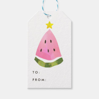 Summer Watermelon Christmas Xmas Tree Gift Tag
