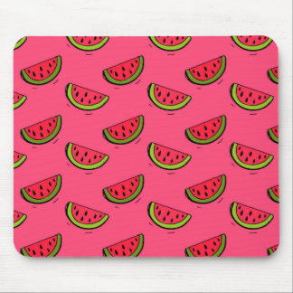 Summer Watermelon on Pink Pattern Mouse Mat