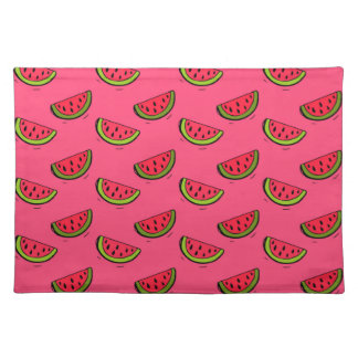 Summer Watermelon on Pink Pattern Placemat