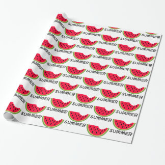 Summer Watermelon Pattern Wrapping Paper