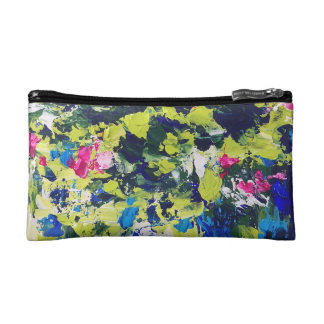 Summer Waters Floral Makeup Bag