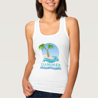 Summer Wave Palm Trees T-Shirts