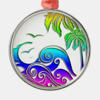 Summer waves ornament