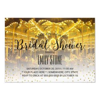 Summer Wedding Merry Go Round Modern Bridal Shower Card
