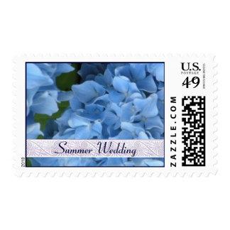 Summer Wedding Stamps - Blue Hydrangea Postage