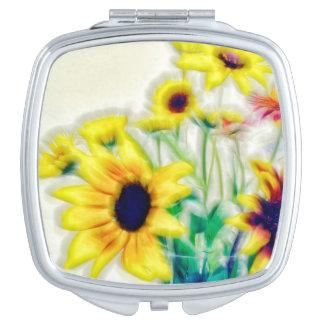 Summer Wildflower Bouquet Travel Mirror