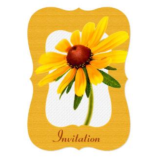 "Summer Wildflower - Yellow Black-Eyed Susan Photo 5"" X 7"" Invitation Card"