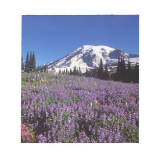 summer wildflowers at the base of Mount Rainier, Notepad