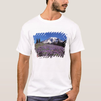 summer wildflowers at the base of Mount Rainier, T-Shirt